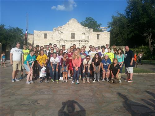 Upward Bound SAA 2015 Participants at the Alamo in San Antonio, TX.