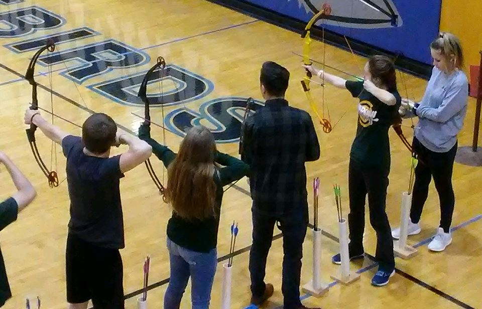 S-C archery team competing at Cole Camp