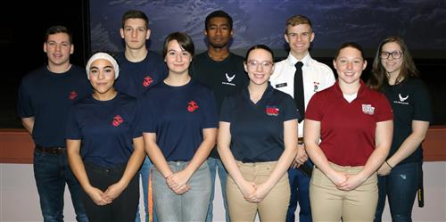 9 S-C seniors who were sworn into military service from space